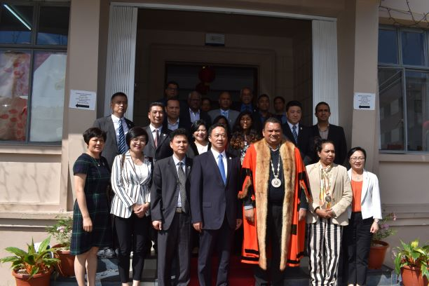 OFFICIAL VISIT OF DELEGATION FROM MEIZHOU,PROVINCE OF MEIXIAN TWINNED WITH CUREPIPE (1)