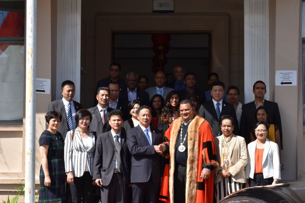 OFFICIAL VISIT OF DELEGATION FROM MEIZHOU,PROVINCE OF MEIXIAN TWINNED WITH CUREPIPE (3)